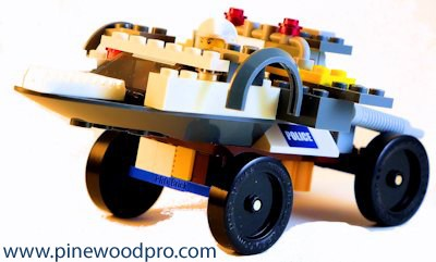 LEGO Polic Car with Pro-Brick Wheel Assembly