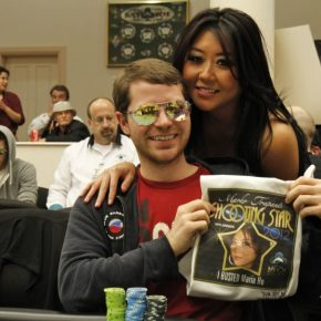 I took all of Maria Ho's chips. © WPT