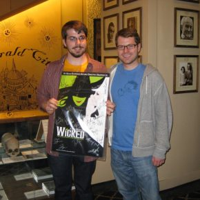 We went to see Wicked in NYC and I got my brother, Garrett, a signed poster.