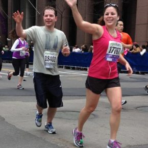 Running a race in NYC with Amie