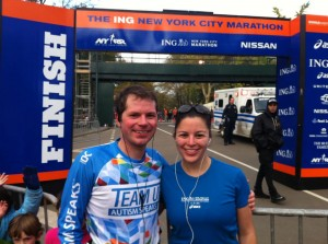 We completed the NYC marathon