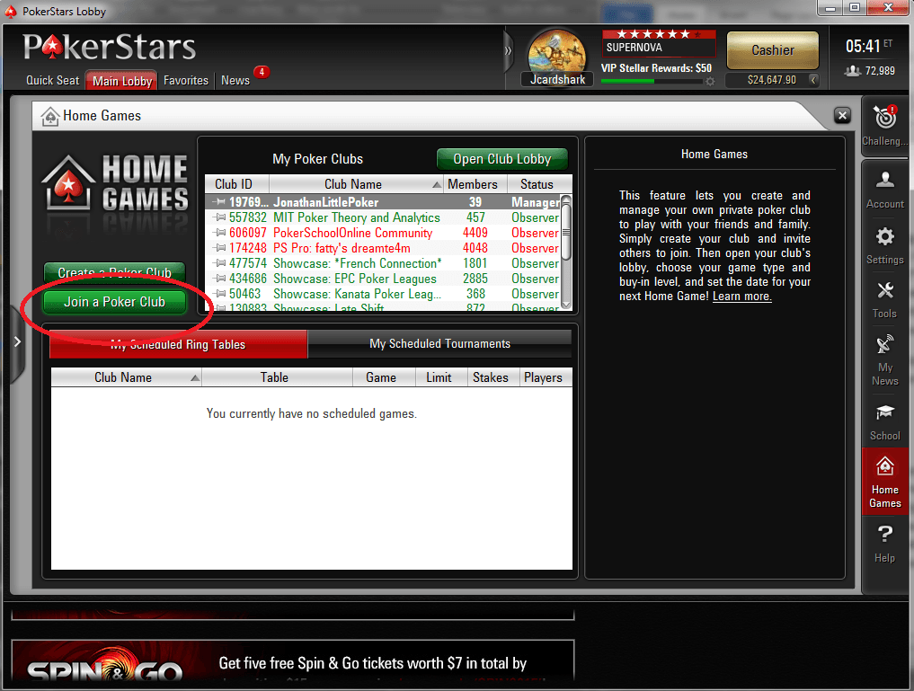 Home Games Pokerstars Ipad