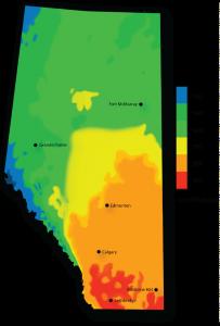 Alberta Solar Heat Map