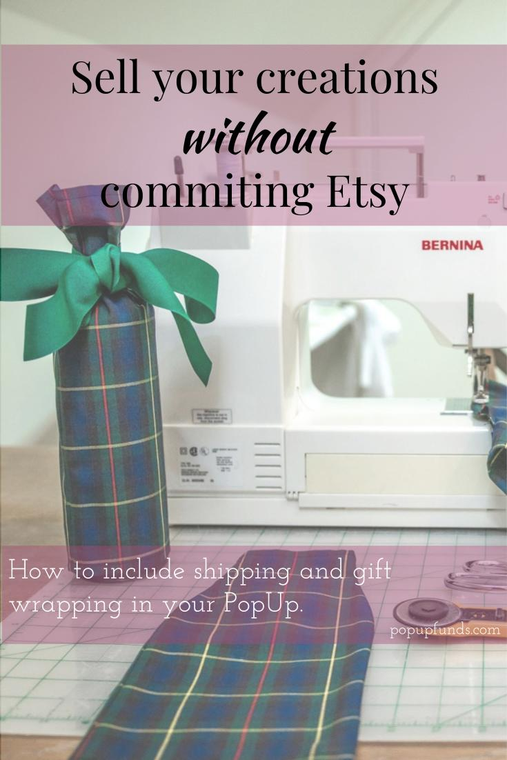 Sell your creations without committing to etsy.