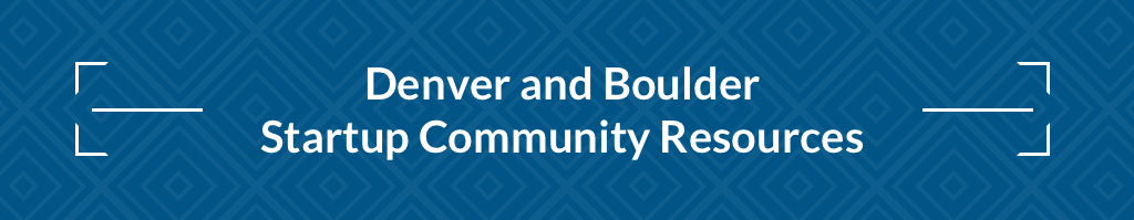 Denver and Boulder Startup Resources header graphic