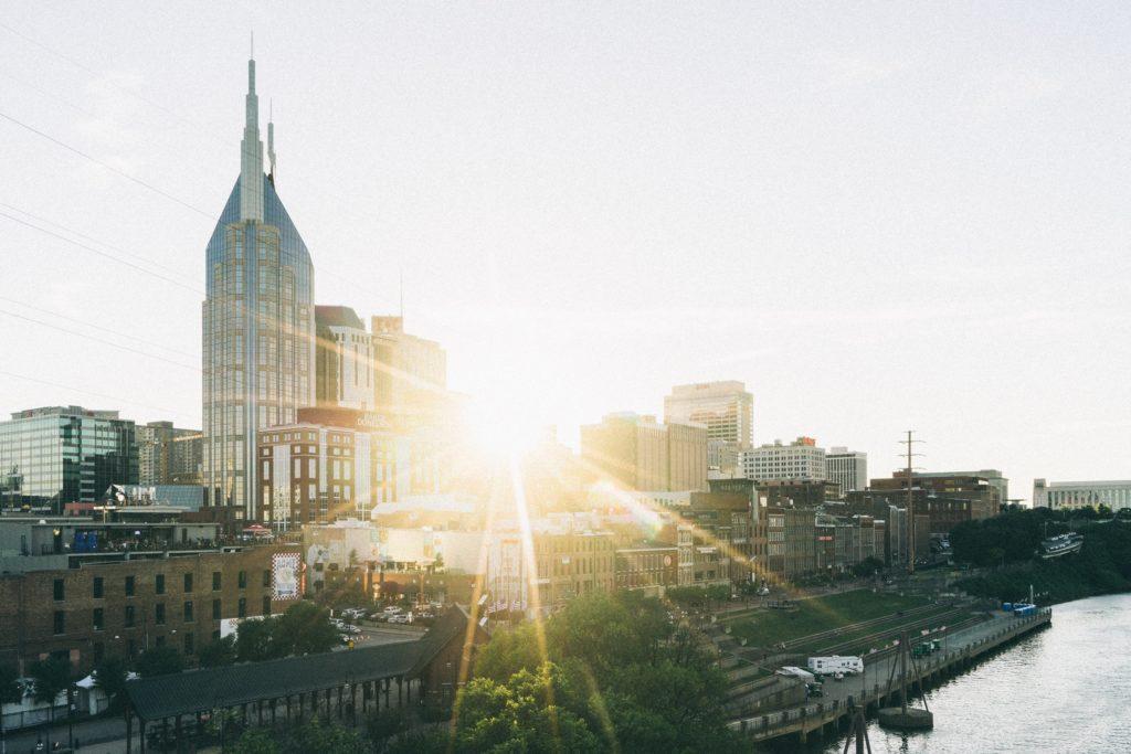 Riverfront of downtown Nashville