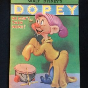 1938-walt-disney-linen-like-book-snow-white-seven-dwarfs-dopey-he-dont-talk-none