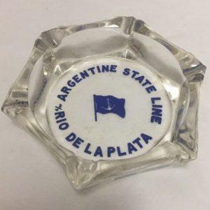 argentine-state-line-cruise-ship-ashtray-rio-de-la-plata-clear-glass-blue-flag