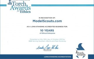 BBB Torch Award Ethics ModelScouts.com