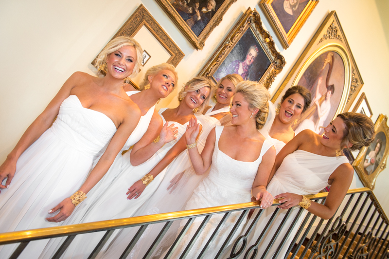 Wedding photographer in Odessa Girls Having Fun on stairs