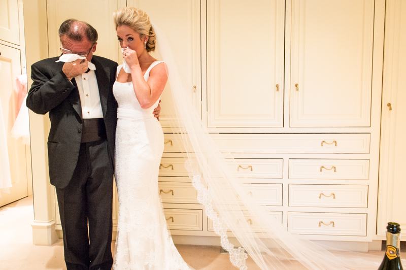 Odessa Wedding Photo Crying Father and Daughter