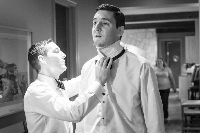 Groom Dressing Groomsman in Odessa Texas