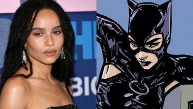 A atriz Zoe Kravitz elogiou o figurino da Mulher-Gato no filme The Batman.