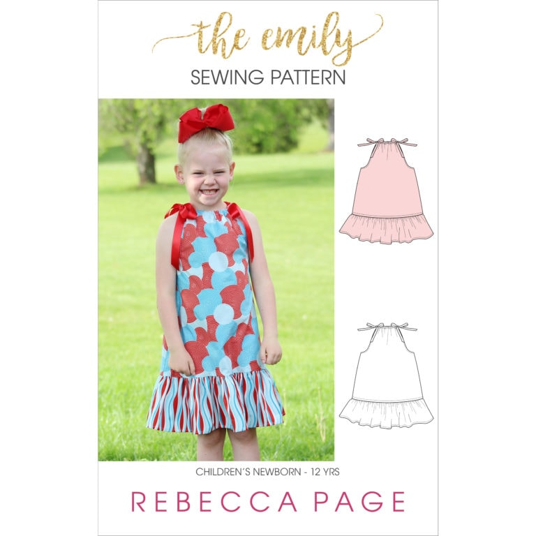 Very simple and easy to sew, this childrens pillowcase dress sewing pattern is suitable from beginner sewing level upwards. A great starter sewing project.