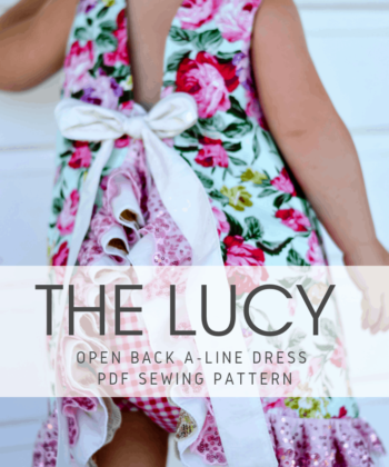 This open back a-line dress pattern will give you an adorable little dress for your baby girl or toddler sizes newborn to 12 years.