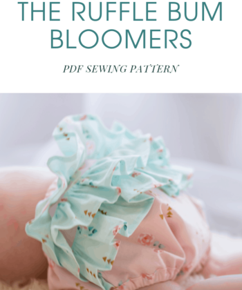 This half ruffled diaper cover pattern is for a baby or toddler sizes newborn to 24 months. It is super cute and will also help hold in any spillages!