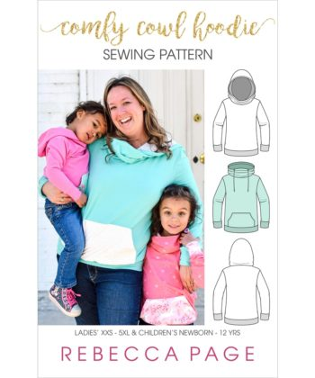 Make yourself and your kidlet a hoodie each with this Comfy Cowl hoodie pattern bundle. Ladies and Children's Comfy Cowl Hoodie PDF Sewing Patterns.