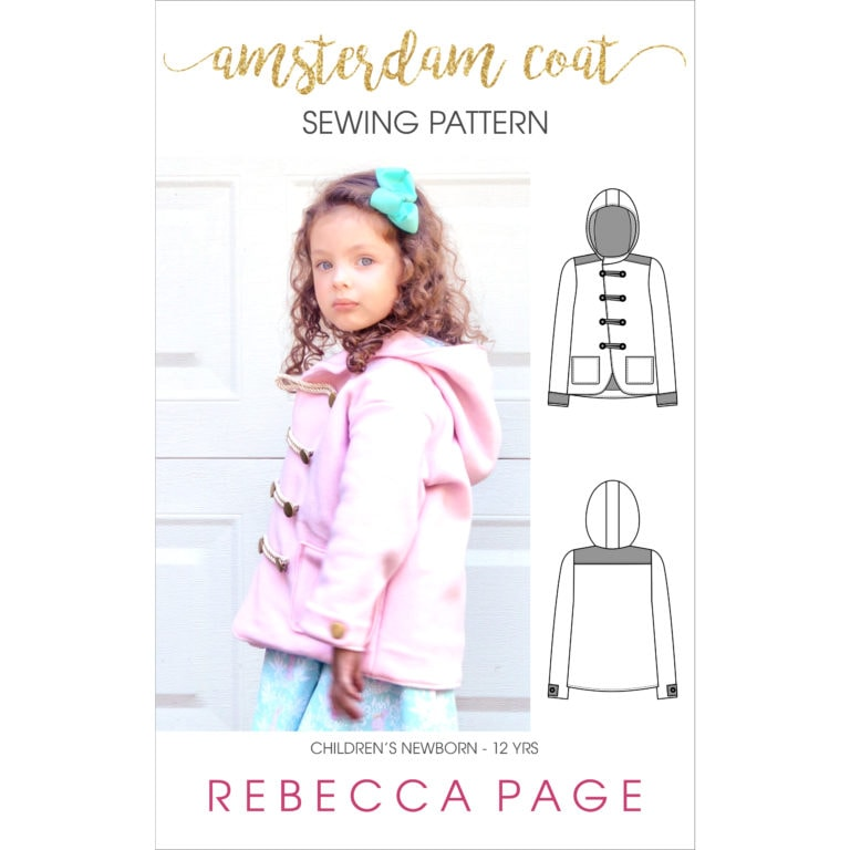 Fully lined all-weather children's unisex coat pattern. You can use different fabrics for different weather, or even make a raincoat with waterproof fabric!