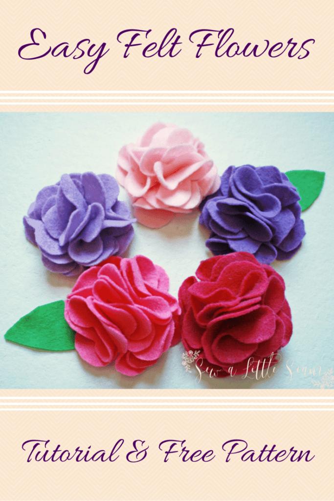 Felt Flower Tutorial & Free Pattern