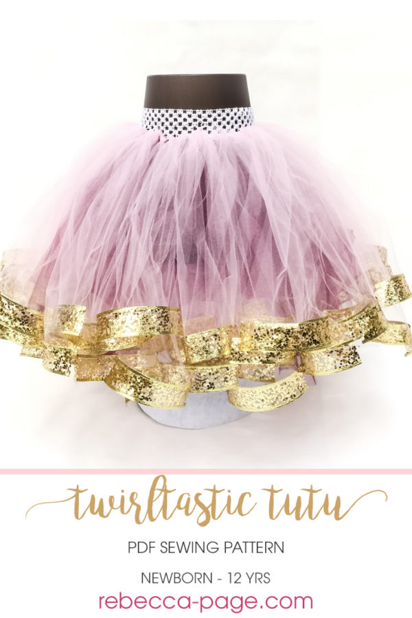 The Twirltastic Tutu is the cutest ribbon tutu pattern about. With yards of tulle and super curly ribbon, it's literally twirltastic.