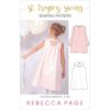 The St. Tropez Swing is a pretty, comfortable, and versatile childrens swing top and dress sewing pattern with cut out detail in the back.