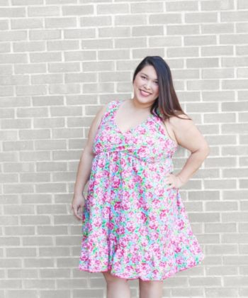 This gorgeous ladies maxi dress pattern can be made from knit or woven and has three length options (tunic, knee or maxi).