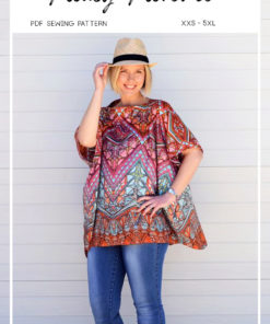 Calling all breezy/ drapey/ gorgeous-fabric lovers! This ladies floaty top pattern is super simple but absolutely stunning on. Floaty Florence is love!