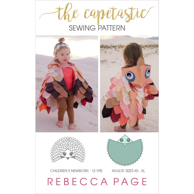 This great value bundle includes both the children's AND adul'st sizeCapetastic cape PDF Sewing Pattern and instructions! The whole family can dress up!