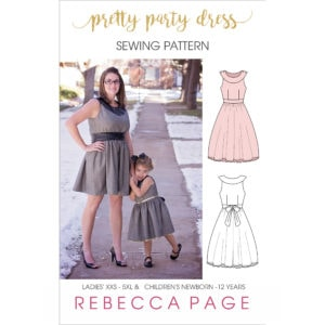 This pretty party dress pattern is everything the name promises: prettiness for days! It has many options to dress it up for parties, or down as a sundress!