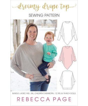 It's dreamy, it's drapey, and it's easy to sew... the Dreamy Drape Top is a batwing top sewing pattern that's super comfy and totally on-trend.