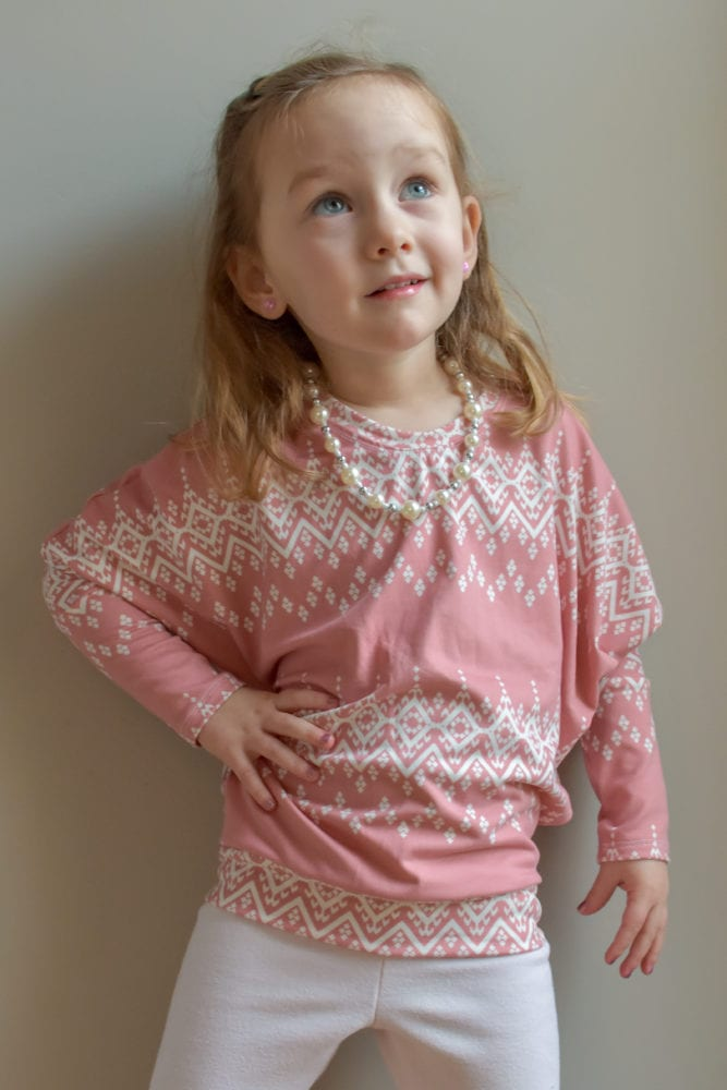 It's dreamy, it's drapey, and it's easy to sew... the Dreamy Drape Top is a childrens batwing top sewing pattern that's super comfy and totally on-trend.