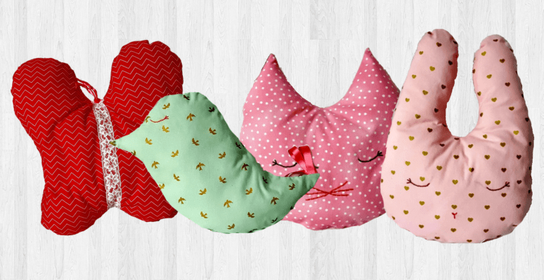 Kidlets and adults alike will absolutely love these cute and cozy little decor items (or even toys) made from this free animal pillow sewing pattern!
