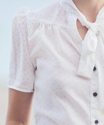 The Madison is a gorgeous ladies tie neck blouse sewing pattern that can be lengthened to a dress! It's a beautifully-finished, supremely lovely, garment.