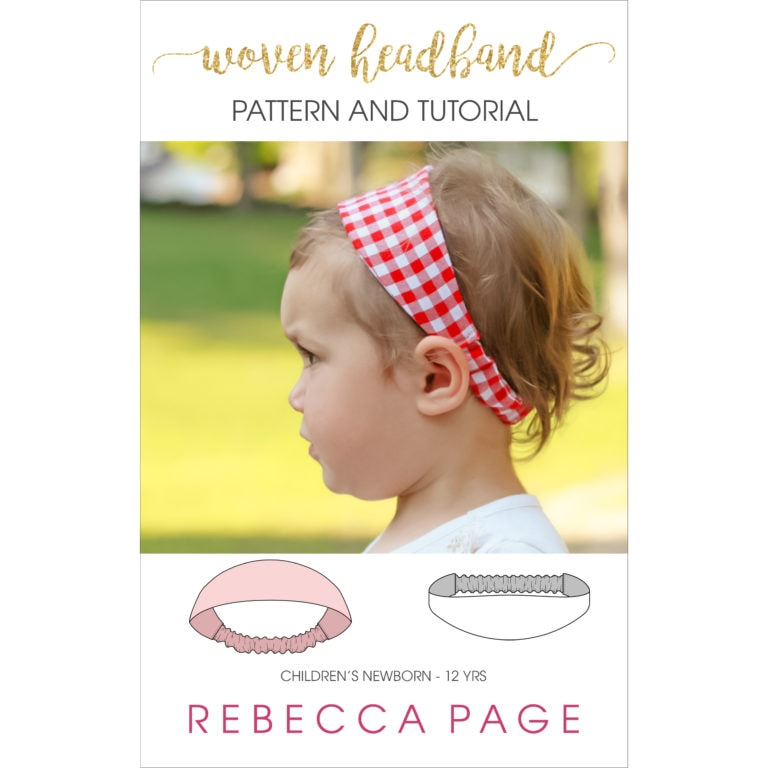 Got scraps? This children's woven headband sewing pattern is the perfect way to use 'em up! Even better... it's a fast and super cute sew.
