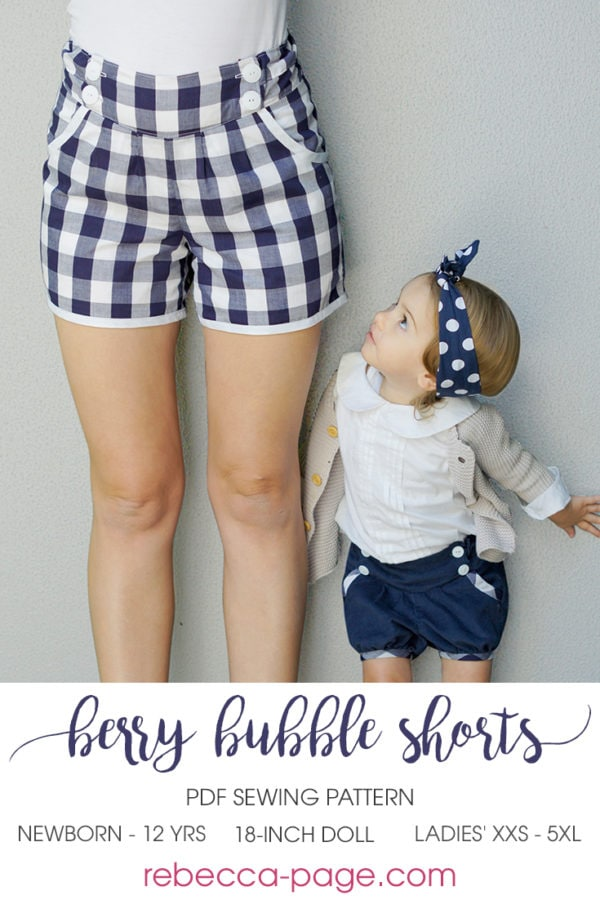 The Berry Bubble Shorts bundle includes the beautifully-finished bubble shorts sewing pattern in three sizes! These shorts are an heirlom-quality sew!