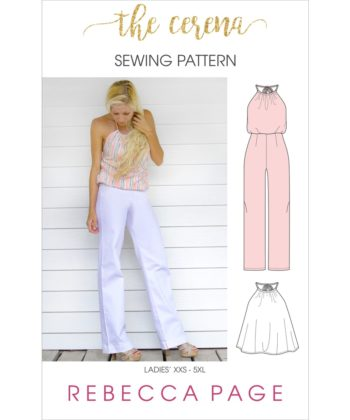 The Cerena ladies romper pattern can be sewn up as a top or a romper. The romper has three leg length options and pockets!