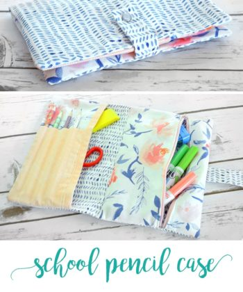 Fast, easy, and a great way to use up scraps, this pencil case pattern is perfect for back to school, sewing supplies, or even used as a makeup pouch!