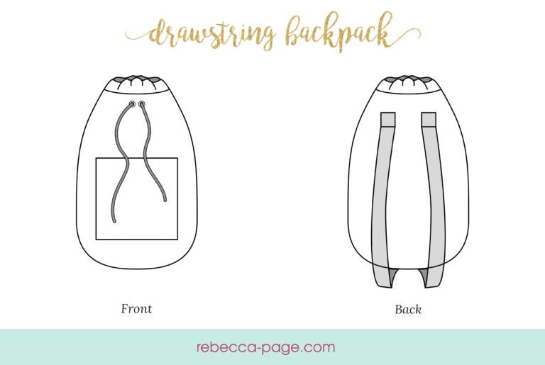 This lovely drawstring backpack pattern is super easy and really quick to make! Perfect for keeping your sewing supplies or using as a school bag!