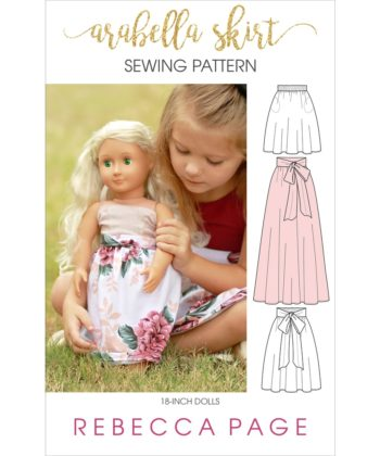 The Arabella is an adorable dolls maxi skirt pattern. An easy and quick sew with lots of options, it's a perfect beginner skirt sewing pattern!
