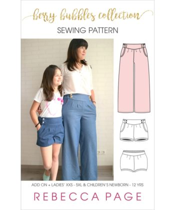 The complete Berry Bubble shorts bundle with the additional extras Add On pattern! Get all sizes for the Berry Bubble Shorts and the Berry Add On patterns!