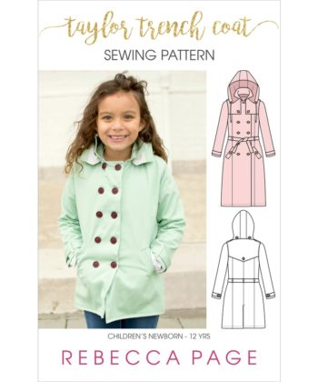 The Taylor Trench is the ultimate childrens trench coat pattern. Choose from trench or coat lengths, plus there are tons of gorgeous optional details!