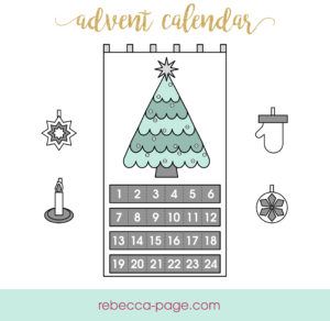 Make a Christmas decoration to last for years with this free advent calendar sewing pattern, that includes a tree, decorations, and calendar pockets. Merry!