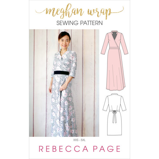 A gorgeous ladies wrap dress pattnern. The Megan Wrap can be made in three different lengths for different style and occasions!