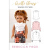 The Brielle Blouse is a loose-fitting doll's blouse pattern that is simply perfect for showing off drapey fabrics. Classic and fashionable at the same time!