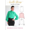 The Brielle Blouse is a loose-fitting blouse sewing pattern that is simply perfect for showing off drapey fabrics. Classic and fashionable at the same time!