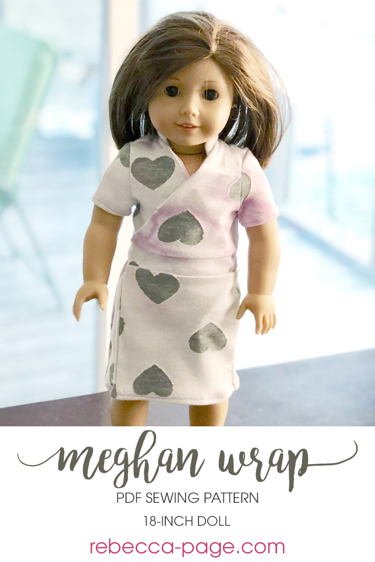 The doll's version of the Meghan Wrap. This gorgeous dolls wrap dress pattern can be made in three different lengths for different styles and occasions!