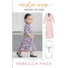 The children's version of the Meghan Wrap; a gorgeous wrap dress pattern that can be made in three different lengths for different styles and occasions!