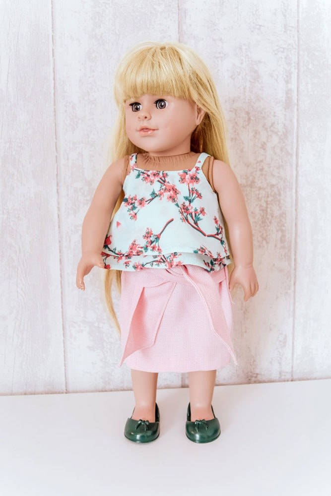 Dolls pencil skirt sewing pattern