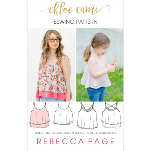 The Chloe Cami is a supremely beautiful layered cami sewing pattern that is an ideal starting block for dressing an outfit up or down, for the perfect look.