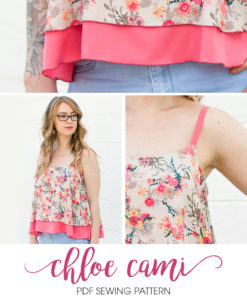 The Chloe Cami is a supremely beautiful ladies cami sewing pattern that is an ideal starting block for dressing an outfit up or down, for the perfect look.